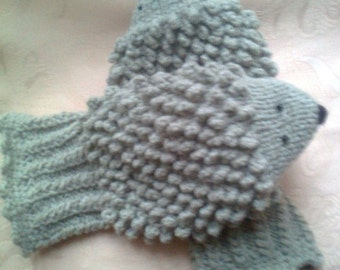 Hedgehog mittens hedgehog gloves, gift for women , Gifts for girlfriend, under 50, mother daughter gift, birthday gift, best friend