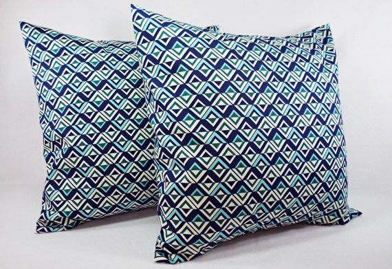 Navy And Teal Throw Pillows: Items Similar To Pillow Covers