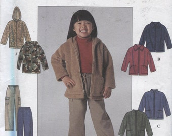 Simplicity 8902, Girls' Fleece jacket and Pants Pattern, Sizes 3 to 8