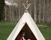 READY-TO-SHIP Canvas Teepee- 5 Sides *Poles Included* #149