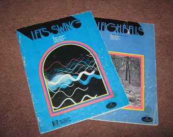 Two Lowrey Organ Music Books //  LETS SWING and SLEIGHBELLS