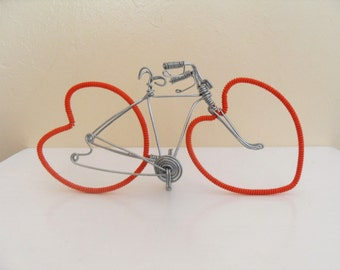 Heart Shaped Wheel bicycle, cake topper