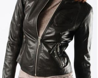 Nancipelle Real Leather Jacket for Women