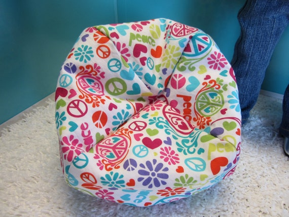 American Girl Doll White Background Peace Sign Bean Bag
