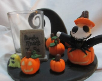 Jack Skellington Nightmare Before Christmas Candle Holder