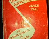 SALE Vintage Michael Aaron Piano Course  Grade Two 1945  The Modern Approach to Piano Study