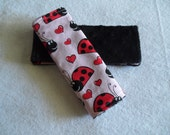 Infant Ladybug Car Seat Strap Covers