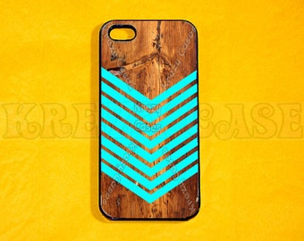 iPhone 6 Plus Case,iPhone 6 Case, iphone 4 Case, iPhone 4s case - teal arrow on wood print  iPhone SE Cases,protective rubber iphone 4 case