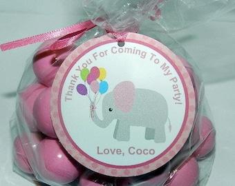 Elephant Birthday - Elephant Birthday Decorations-Elephant Favor Tags- Elephant Birthday Party