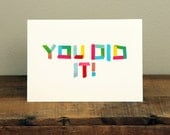 You Did It // Washi Tape Font