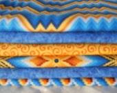 Blue Quilt Fabric, Stash Builder, Orange Fabric Yardage, (6) Yard Fabric Bundle, Quilt Fabric By The Yard. 36'' Length x 42'' Width.