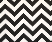 Upholstery Fabric By The Yard, Drapery Fabric, Chevron Fabric, Black/White Chevron, Duvet Cover Fabric, Slip Cover Fabric, Decorative Fabric