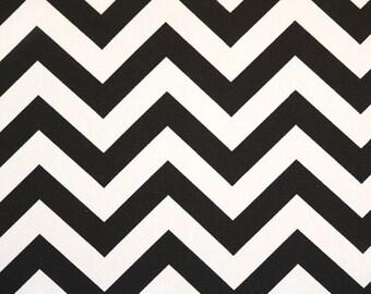 Upholstery Fabric, Drapery Fabric, Chevron Fabric, Black/White Chevron, Duvet Cover Fabric, Slip Cover Fabric, Decorative Fabric Yardage