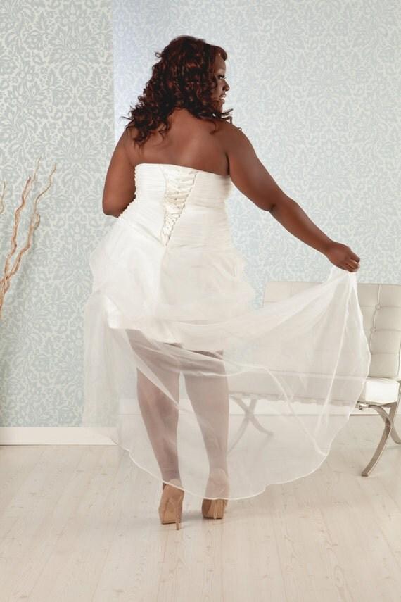 Items similar to plus size wedding reception dress short for Plus size dress for wedding reception
