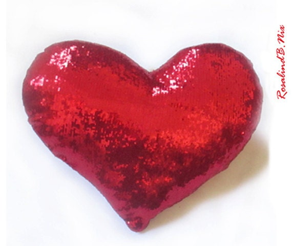 Red Heart Pillow With Name