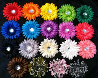 Gerber Daisy Flower Clips -YOU PICK ONE