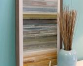 "Coastal Horizon Reclaimed Wood Art- 16"" x 28"""