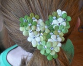 Heart shaped paper flower hair band