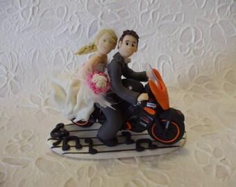 wedding cake topper / music cake topper / motorcycle cake topper