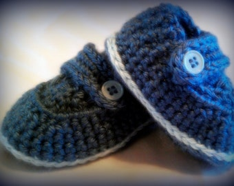 Crochet Baby boy booties Made to order Any colors 0-6mo 6-12mo
