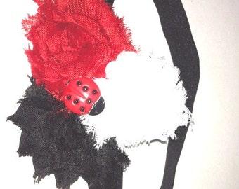 Red, White, Black Headband