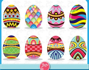 Easter Clip Art Colorful Eggs Pattern Ideal For Scrapbook Cards InvitationsParty