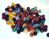 Mixed Color Agate Beads 4mm 50 Beads