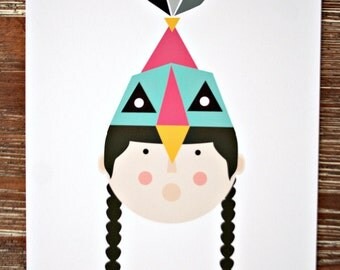 "Print ""Bird Dance Portrait"""