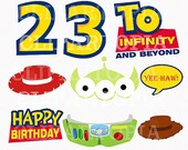 T. Story Digital Clipart / DIY Toy Story Party Printables / Toy Story Photo Props For Personal and Commercial Use / INSTANT Download