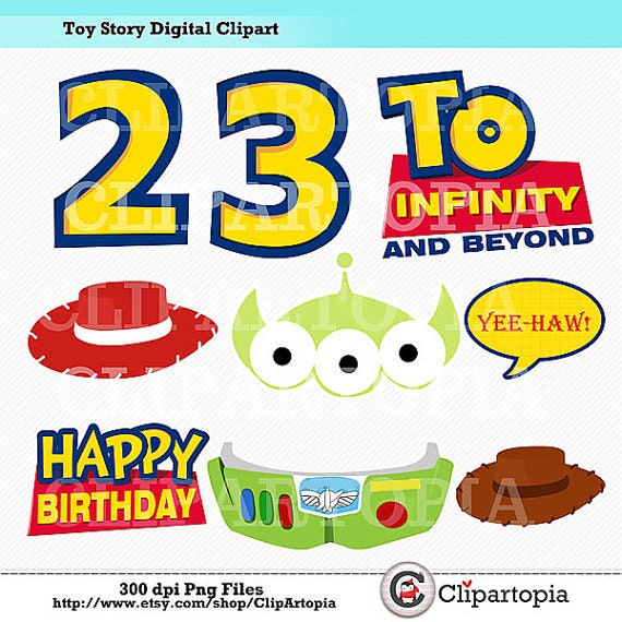 T. Story Digital Clipart / DIY Toy Story Party Printables /