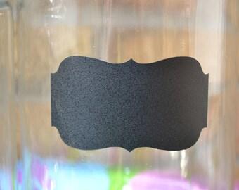 ASSORTED SIZES - Small Medium Large - Orante Rectangle - 12  Chalk Board Labels - Vinyl