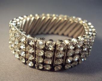 1950's Rhinestone Stretch Bracelet