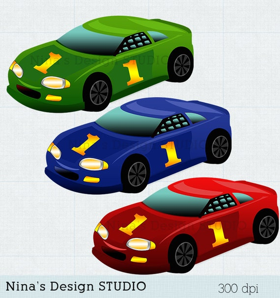 Instant Download Racing Cars Clipart Cars Clipart Scrapbook