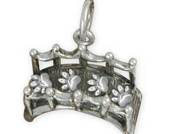 Solid Sterling Rainbow Bridge Memorial Charm Jewelry  RBB1-C