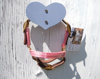 wooden heart halter holders