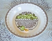 Royal China Jeannette Apple Pie Baker/Dish/Plate