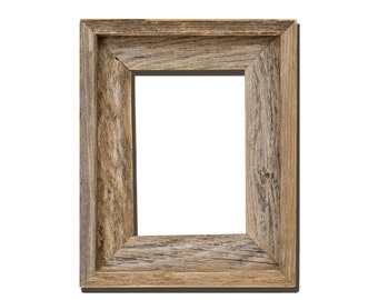 4x6 2 wide barnwood reclaimed wood open frame no glass or back