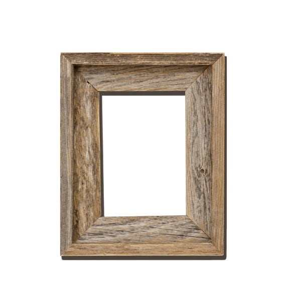 4x6 2 wide barnwood reclaimed wood open frame no glass
