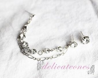 Rhinestone Chain Cartilage Piercing