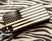 Black American Flag Gold Golden Iphone Case Cover 6-5S-5-4S-4 Firm Rubber