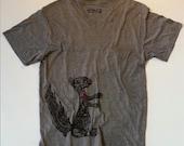 SUMMER SALE Squirrel's Heart Vintage T-shirt-Men's/unisex Enter code ACORN at checkout for 10% off