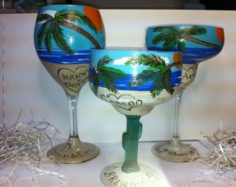 Painted Beach Glasses