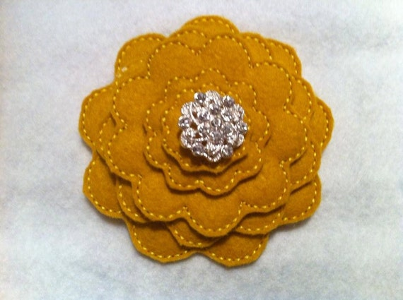 3D Stacked Scallop Felt Flower ITH In the Hoop Embroidery