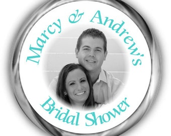 Photo  Bridal Shower Stickers - High Gloss Personalized Label - Bridal Shower Sticker