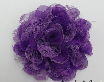 Medium Purple Chiffon Lace Flowers Spring and Summer