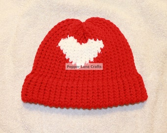Adult Red hat with Heart