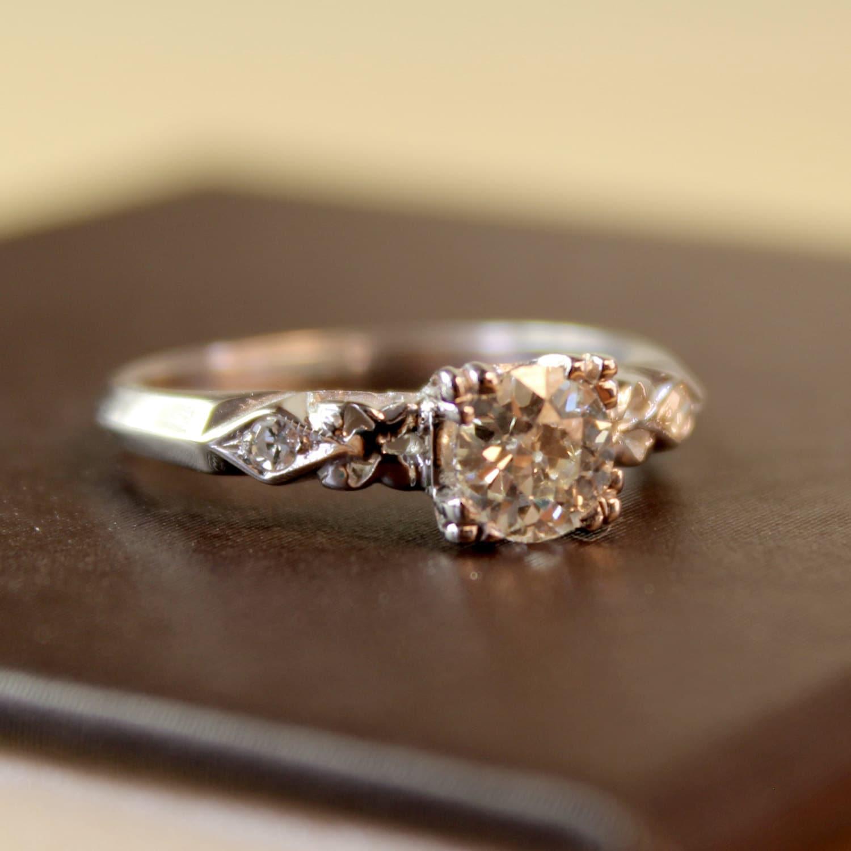 Linnea Diamond Vintage Engagement Ring Circa 1950