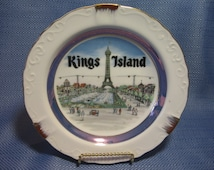 Vintage Kings Island Souvenir Plate, collecible plate
