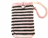Pink & Black Bling to iphone 4 purse, Galaxy Bag, samsung galaxy stratosphere case Nexus 4 Pouch with Strap lg spectrum 2 case