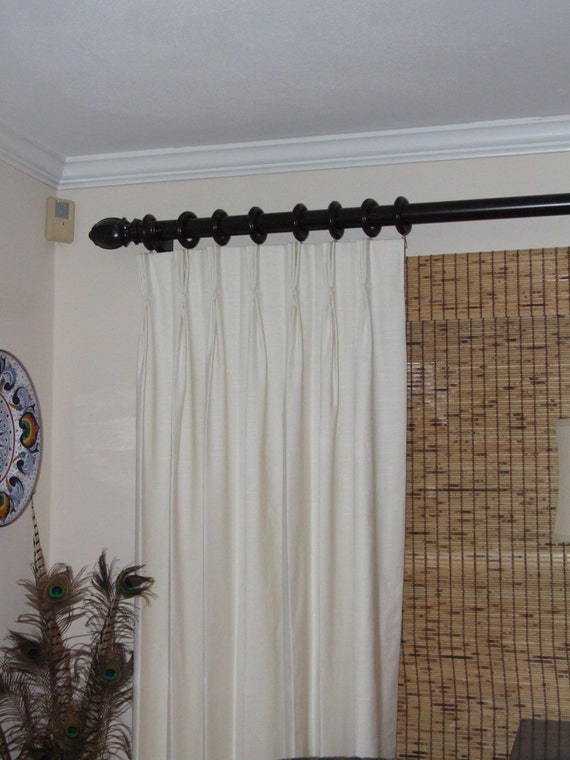 Items Similar To White Pinch Pleat Drapes Fully Lined